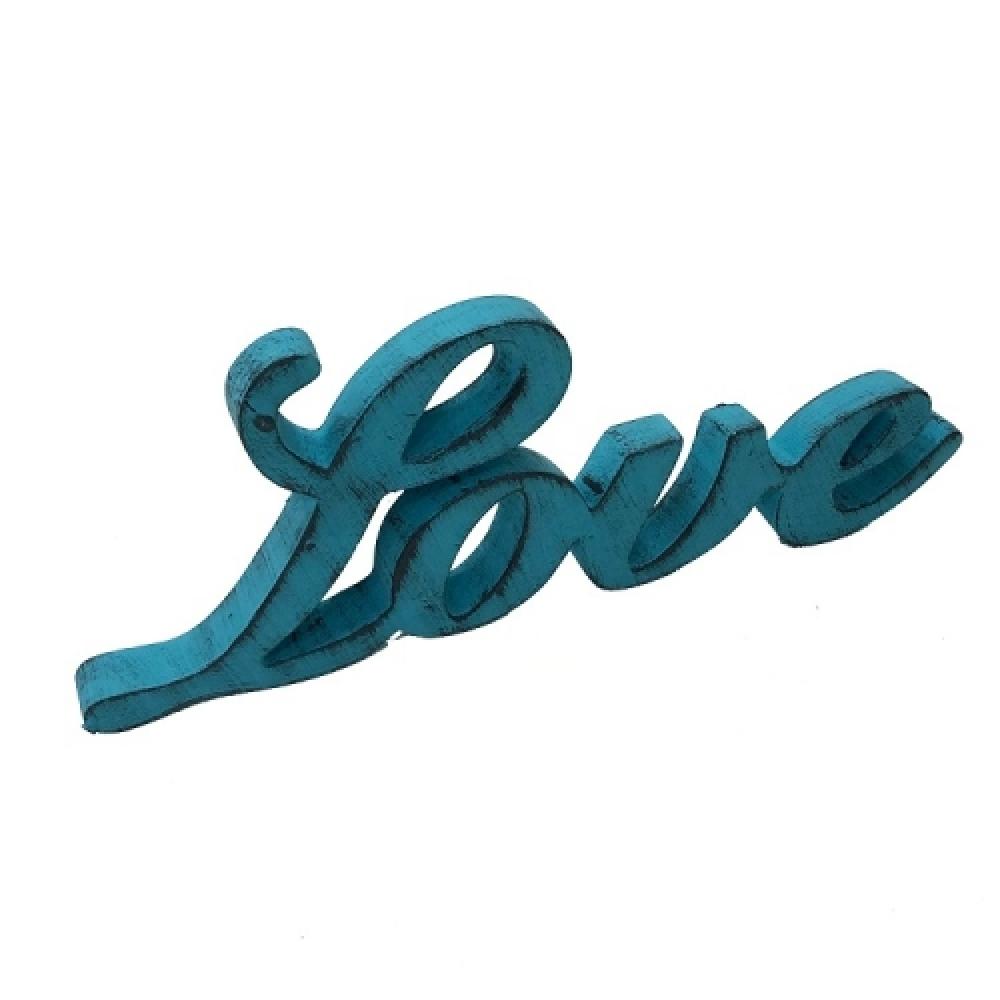 LOVE caligrafia cor tiffany