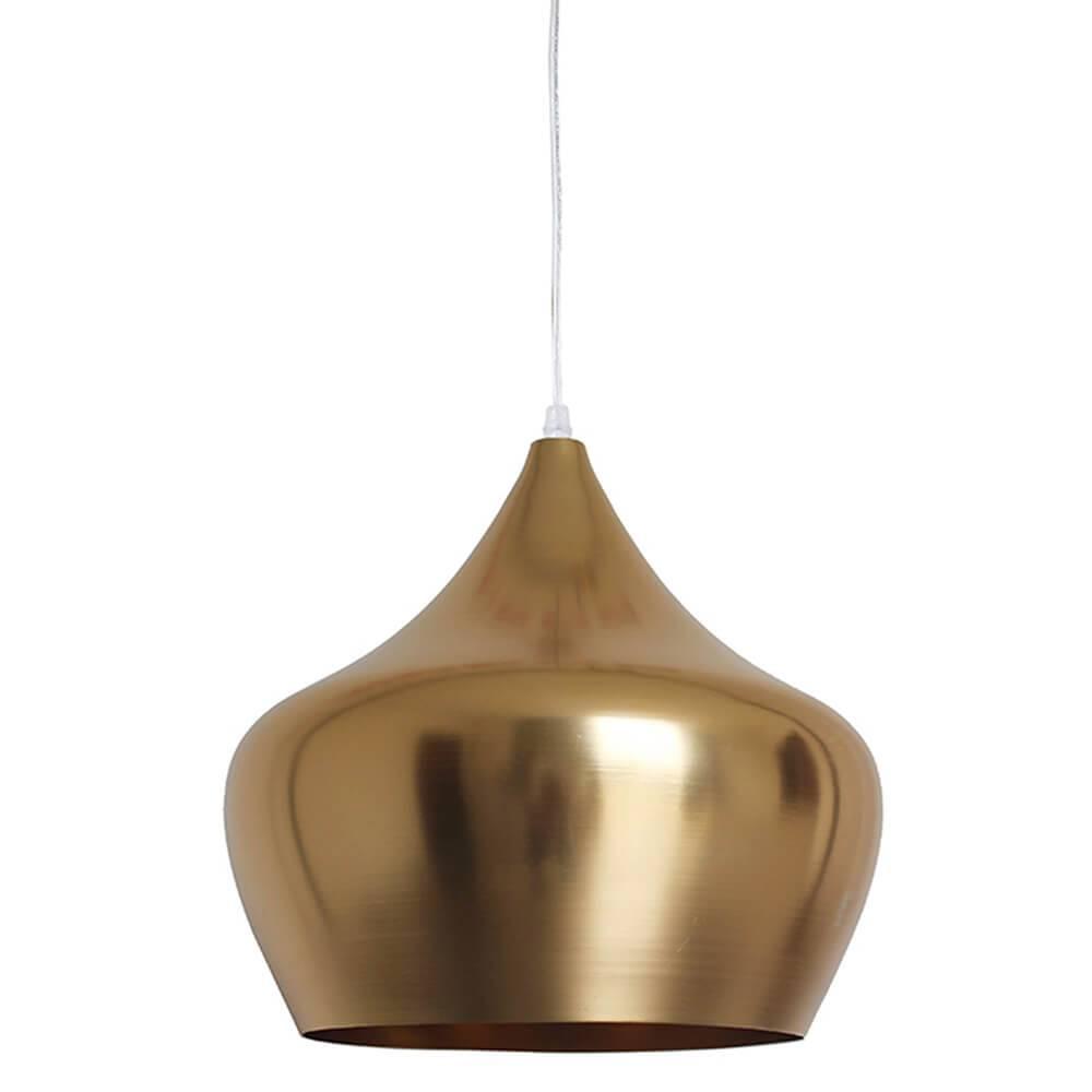 Luminária Apple Dourada em Metal - Urban - 40x38 cm