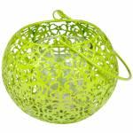 Lanterna Basket Verde em Metal e Vidro - Urban - 16,5x11 cm