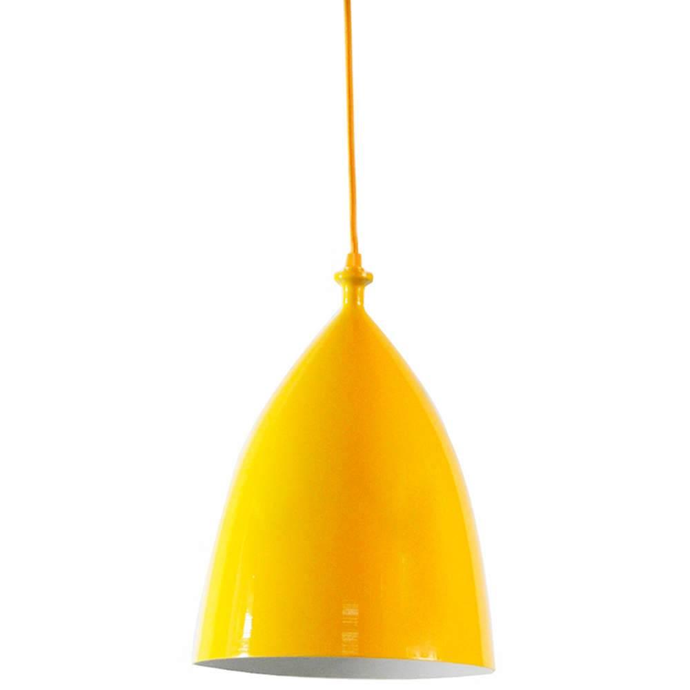 Luminária Bishop Amarelo em Metal - Urban - 32x22 cm