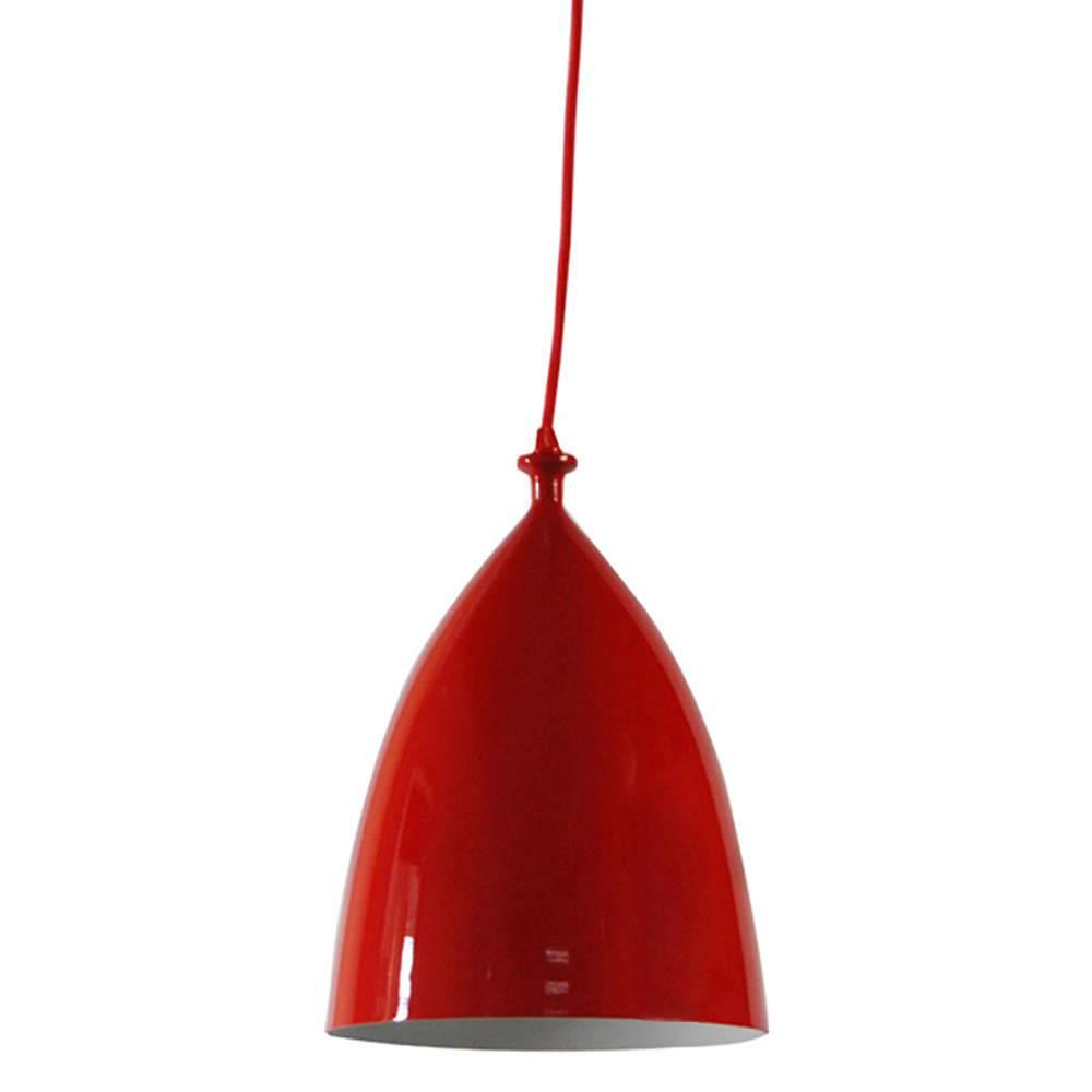 Luminária Bishop Vermelho em Metal - Urban - 32x22 cm
