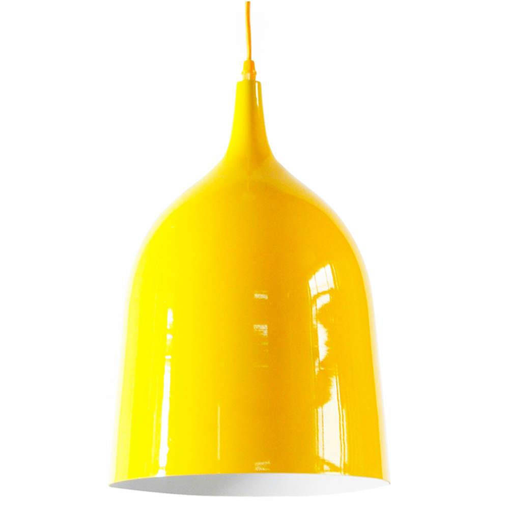 Luminária Bottle Neck Amarelo em Metal - Urban - 45x27 cm