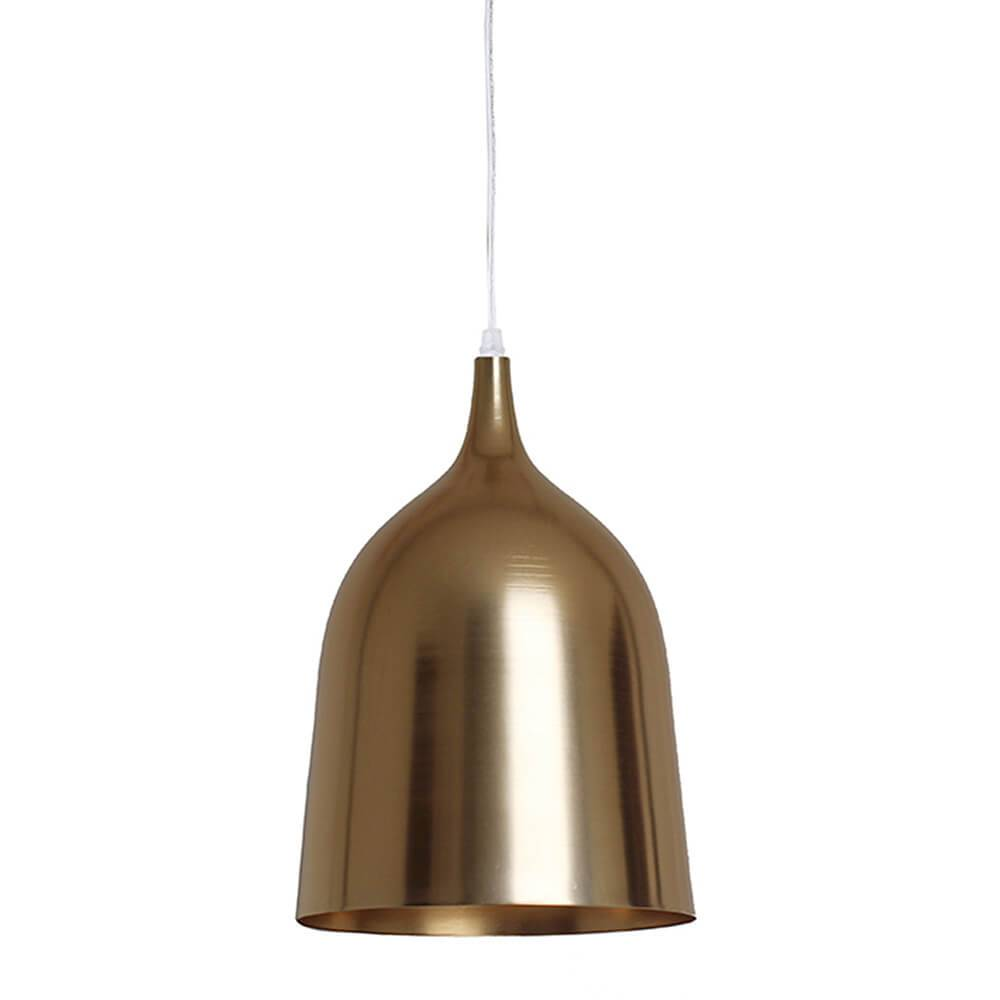 Luminária Bottle Neck Dourada em Metal - Urban - 45x27 cm