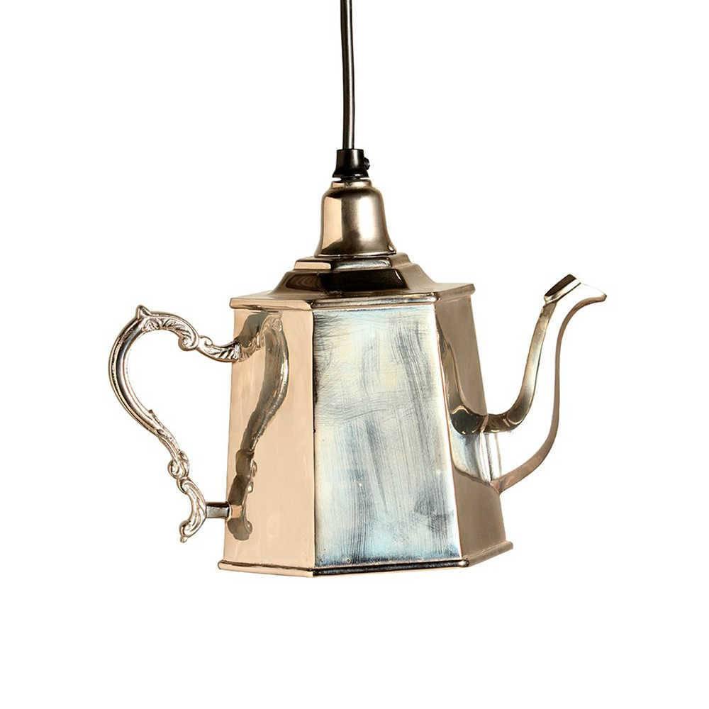Luminária Bule Dorothy Cromado em Metal - 28x18 cm
