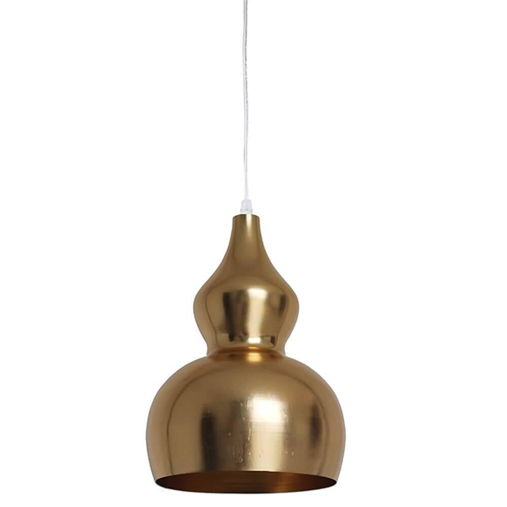 Luminária Cabaca Dourada em Metal - Urban - 36x23 cm