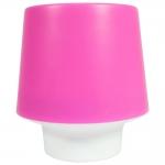 Luminária Candy Rosa Pequena de Mesa - 16x15 cm