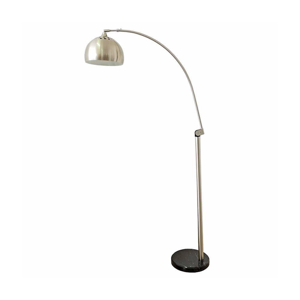 Luminária de Chão Bend Prata em Alumínio - 141x20 cm