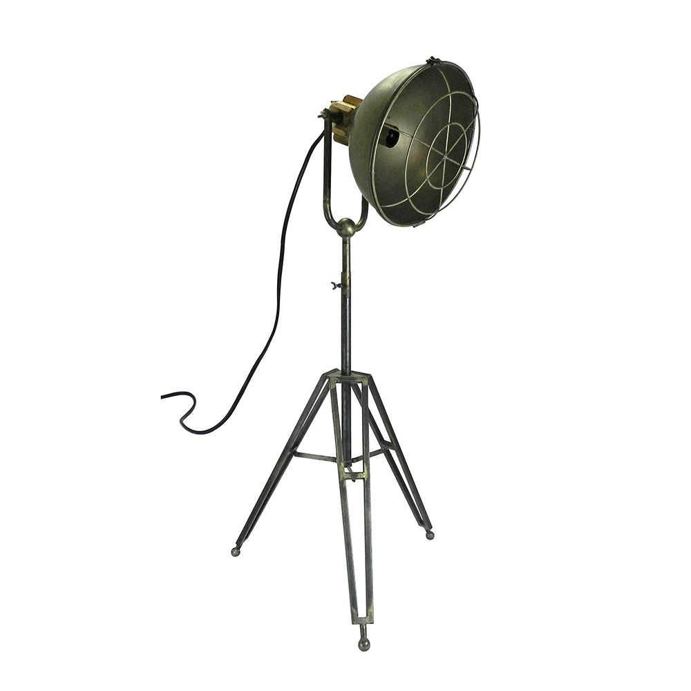 Luminária de Chão Scan Cinza em Metal - 120x38 cm