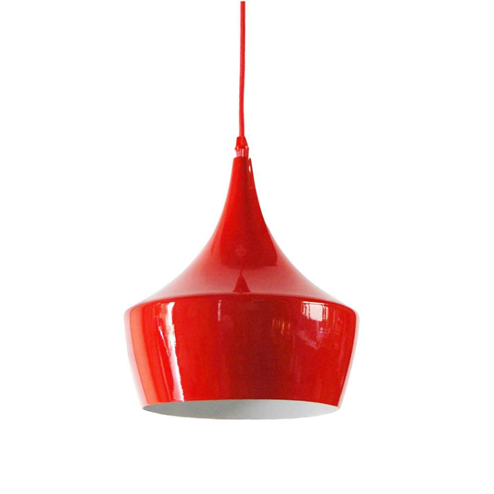 Luminária Cirque Tend Vermelho em Metal - Urban - 30x24 cm