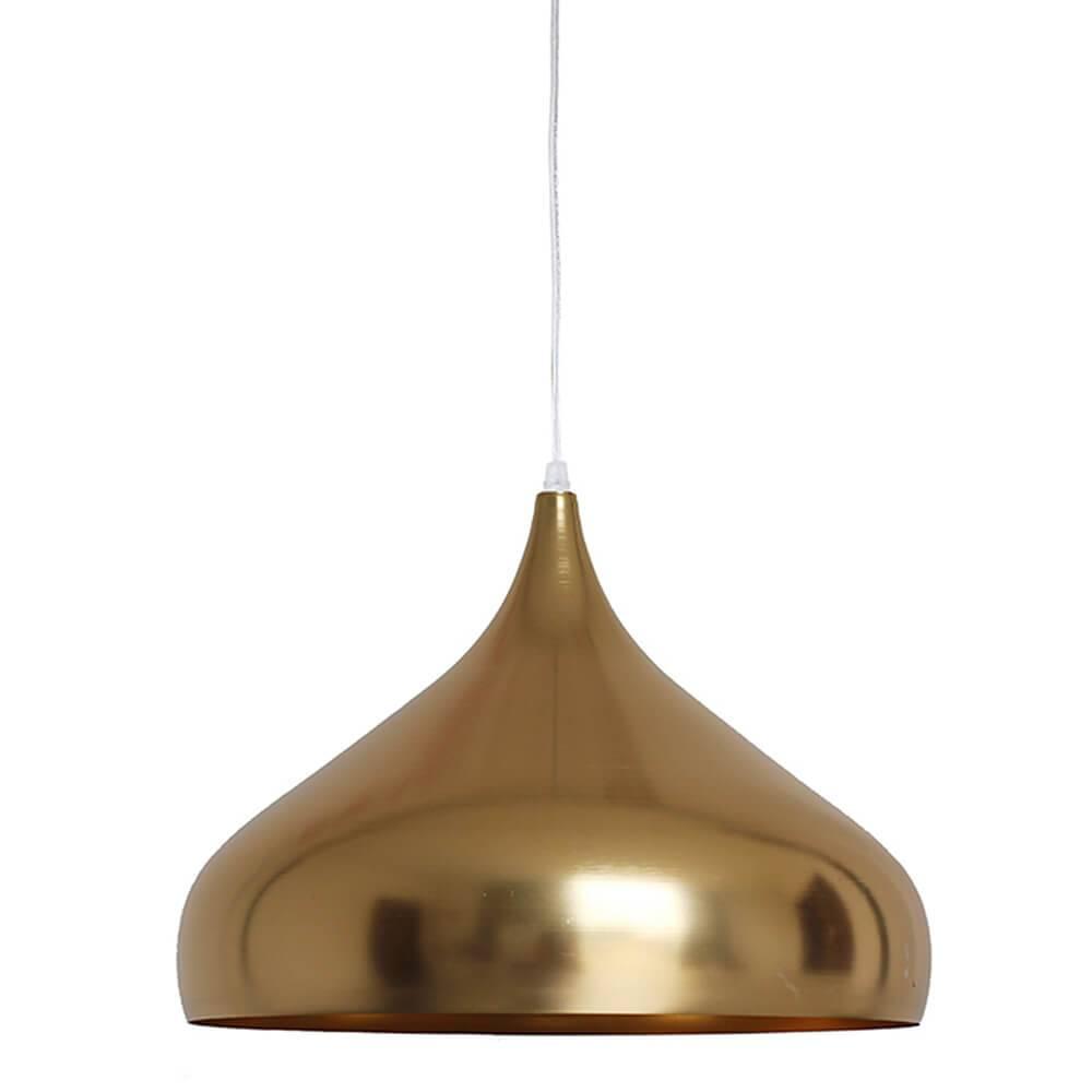 Luminária Clown Hat Dourada em Metal - Urban - 42x30 cm