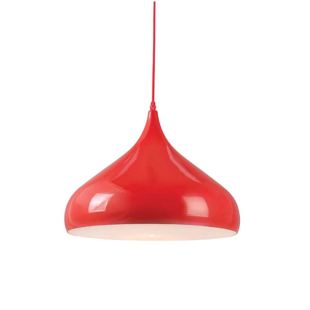 Luminária Clown Hat Vermelho em Metal - Urban - 42x36 cm
