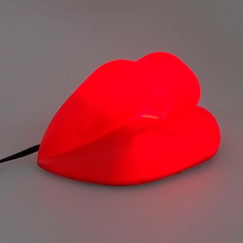 Luminária Decorativa Boca Vermelha - 22x11 cm