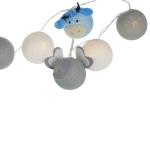 Luminária Decorativa Kit Amiguinhos Do Safari Azul - 220V