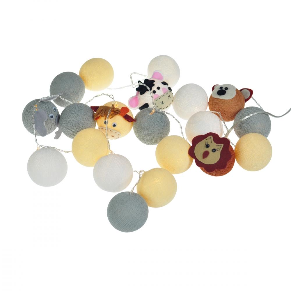 Luminária Decorativa Kit Amiguinhos Do Safari - À pilha