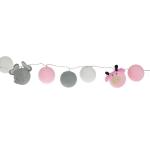 Luminária Decorativa Kit Amiguinhos Do Safari Rosa - À pilha