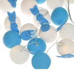 Luminária Decorativa Kit Gotas e Nuvens Azul - 110V
