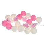 Luminária Decorativa Kit Gotas e Nuvens Rosa - À pilha