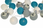 Luminária Decorativa Kit Raposa Cinza - À pilha