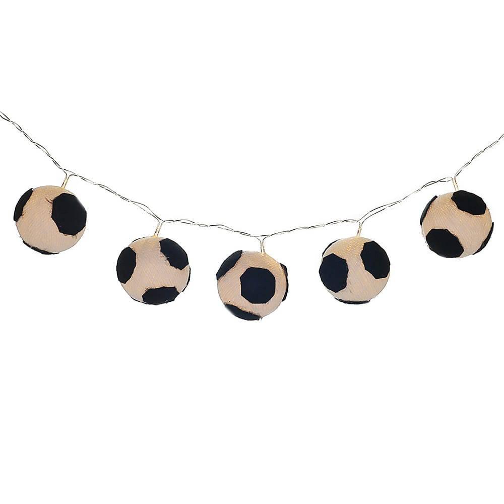 Luminária Decorativa de LED Bolinhas de Futebol à Pilha