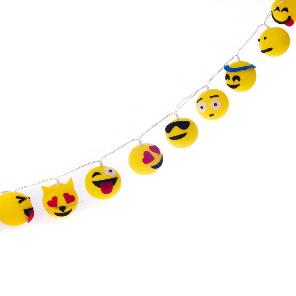 Luminária Decorativa de LED Emojis à Pilha
