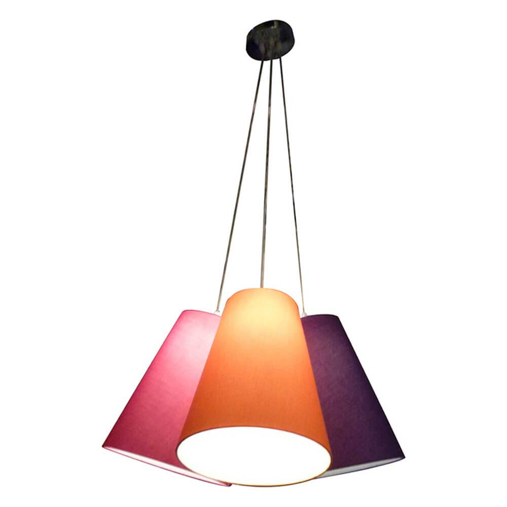 Luminária Four Shades Colorida em Resina - Urban - 68x63 cm