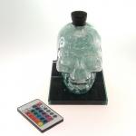 Luminária garrafa skull LED