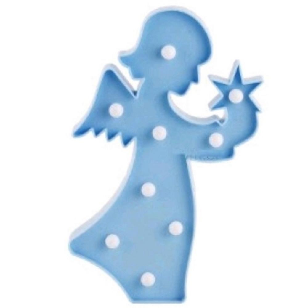 Luminária LED anjo azul
