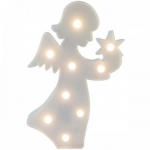 Luminária LED anjo branco
