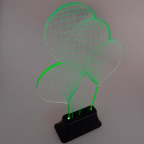 Luminária LED Balões em Acrílico - 32x19 cm