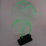 Luminária LED Balões em Acrílico