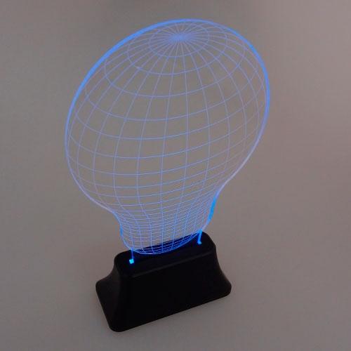 Luminária LED Color Lamp em Acrílico - 25x15 cm