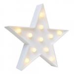 Luminária LED estrela branca