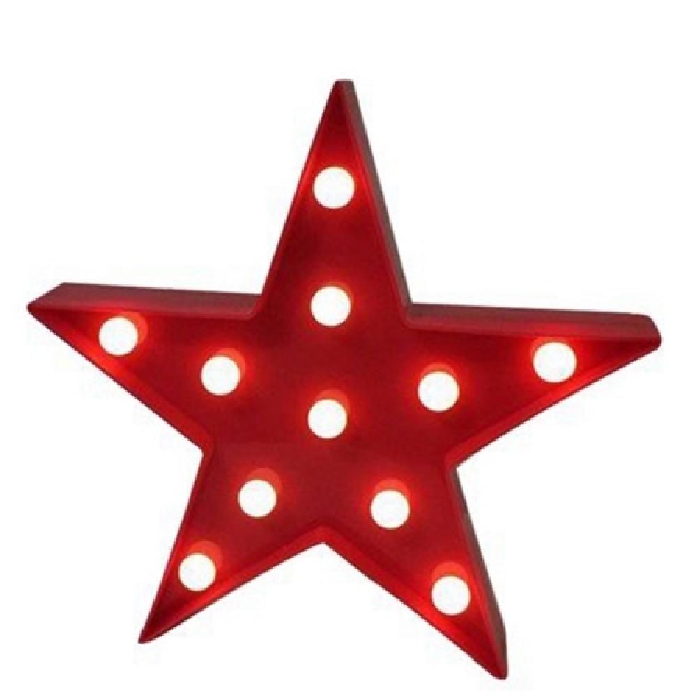 Luminária LED estrela vermelha