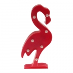 Luminária de Led Flamingo Rosa - 30x10 cm
