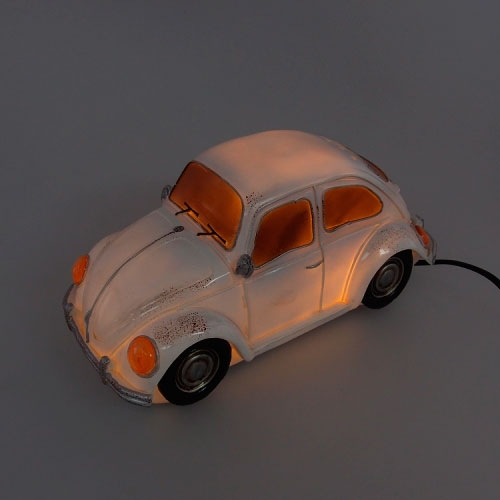 Luminária LED Fusca em Resina - 28x14 cm