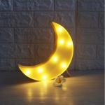 Luminária LED lua amarela