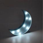 Luminária LED lua azul