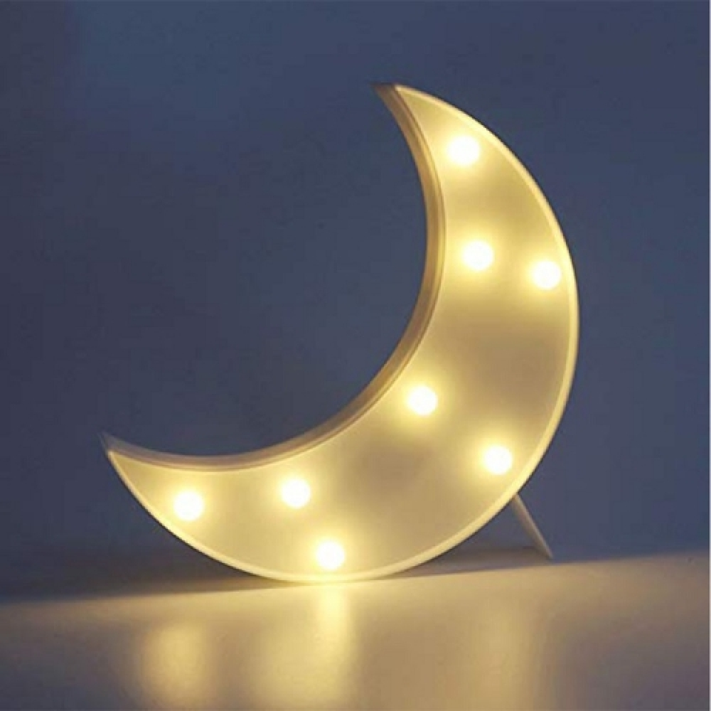 Luminária LED lua branca