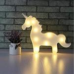 Luminária LED unicórnio branco
