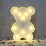 Luminária LED urso branco