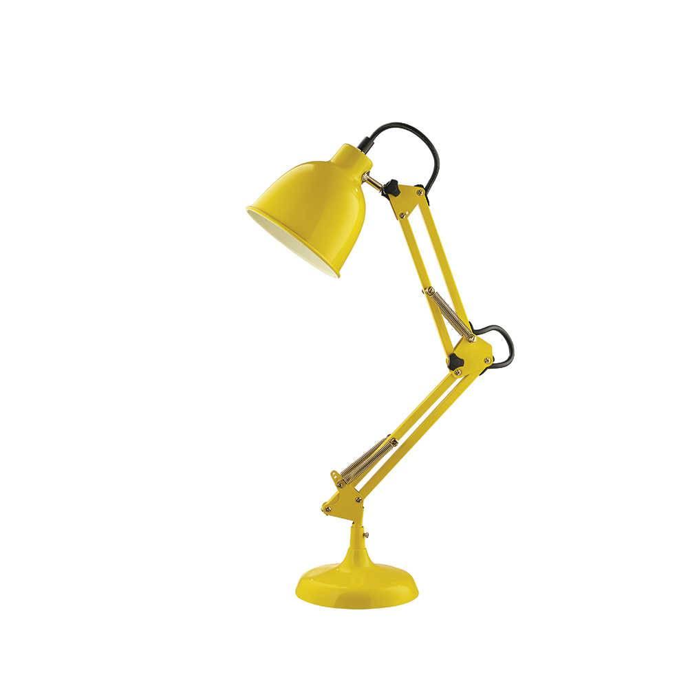 Luminária de Mesa Amarela Articulada - 50 cm