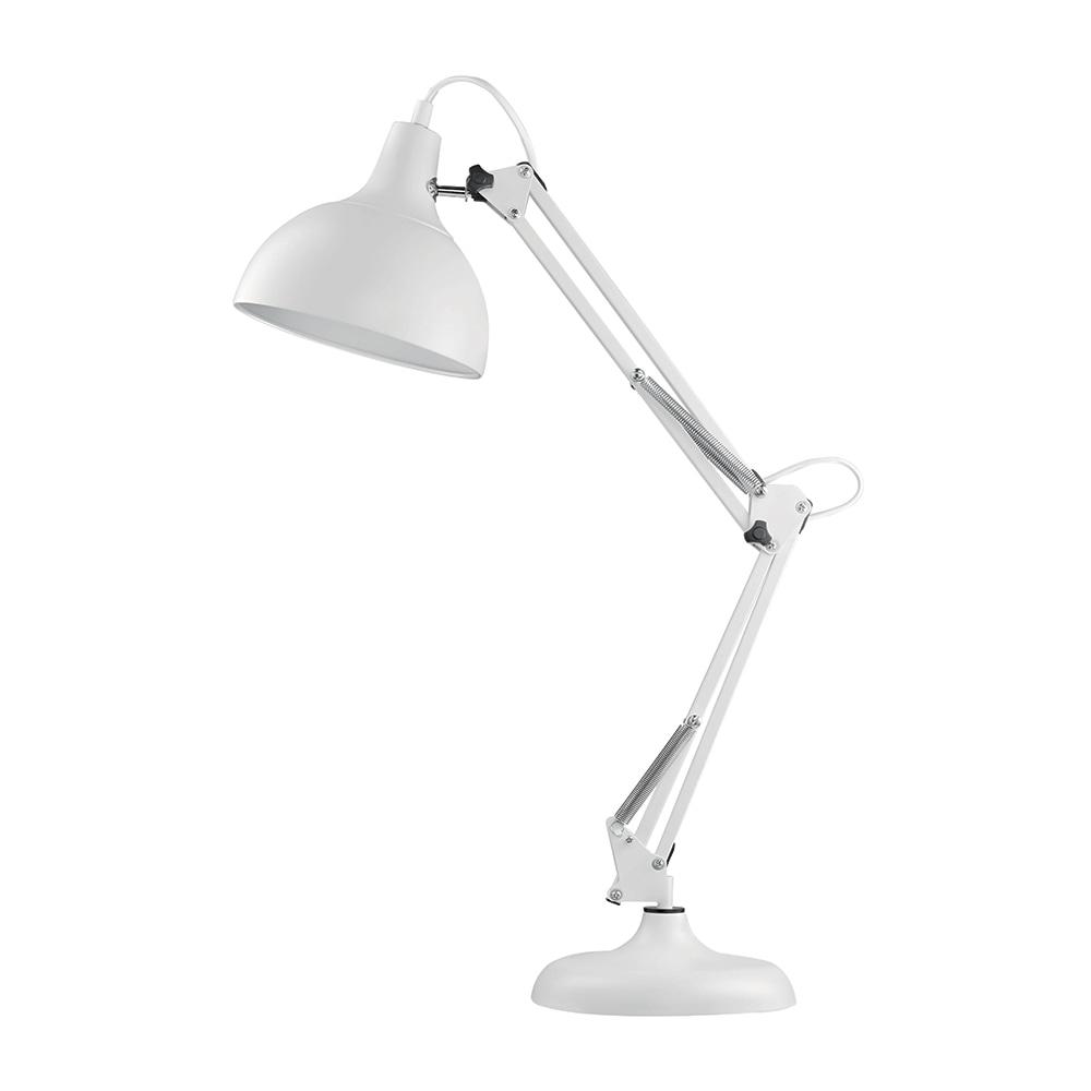 Luminária de Mesa Articulada Branca Grande em Metal - 72x19 cm