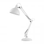 Luminária de Mesa Articulada Branca Grande em Metal