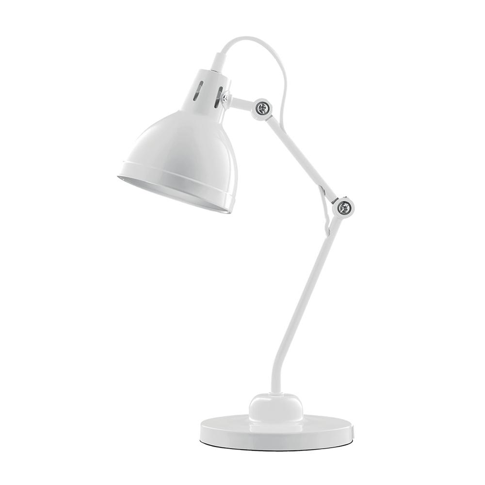 Luminária de Mesa Articulada Branca Bivolt em Metal - 44x13,5 cm