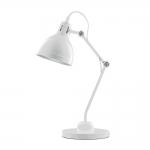 Luminária de Mesa Articulada Branca Bivolt em Metal