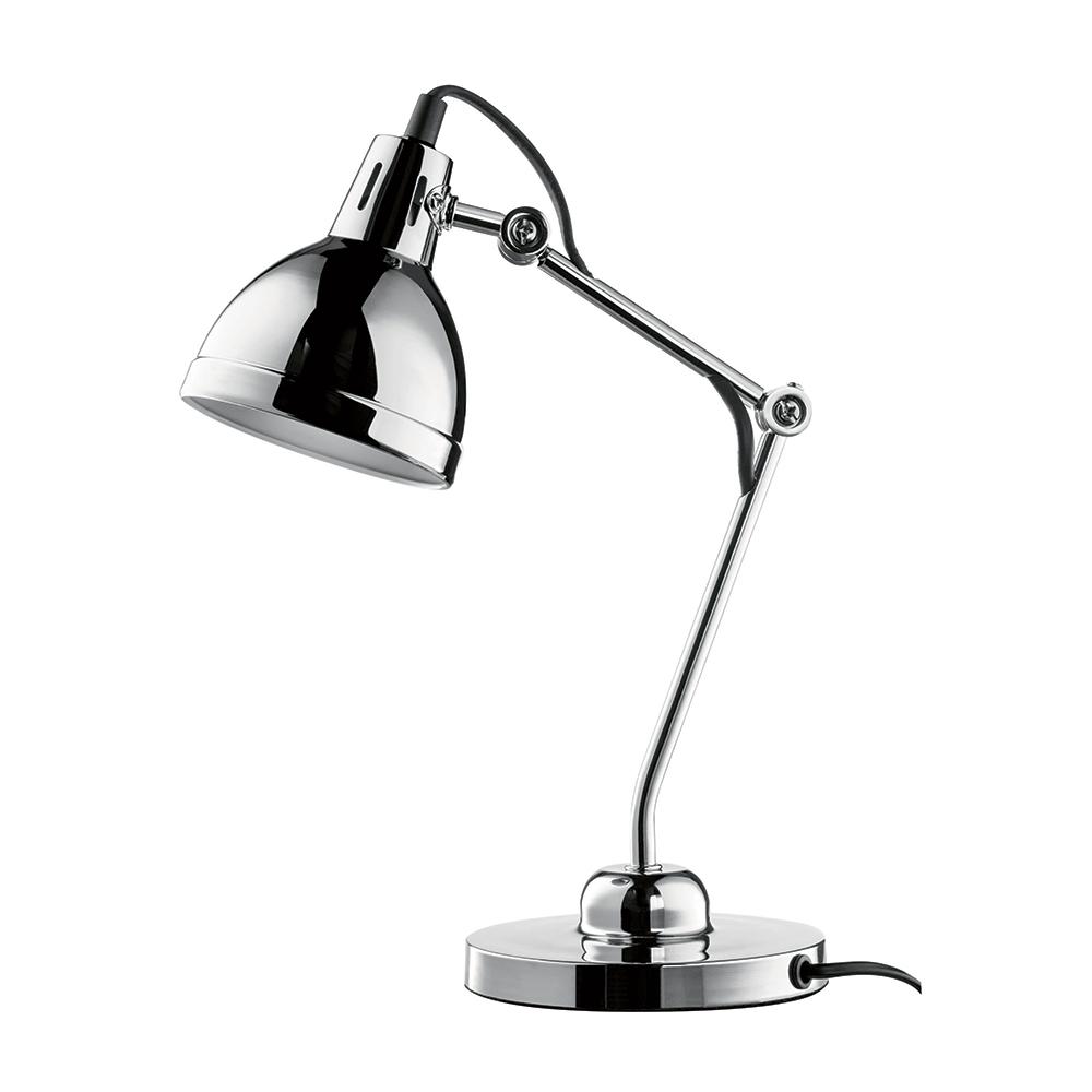 Luminária de Mesa Articulada Prata Cromado Bivolt em Metal - 44x13,5 cm