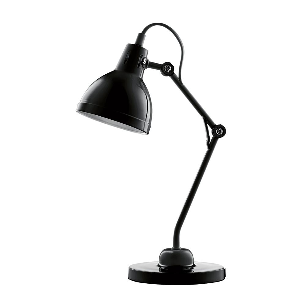 Luminária de Mesa Articulada Preta Bivolt em Metal - 44x13,5 cm