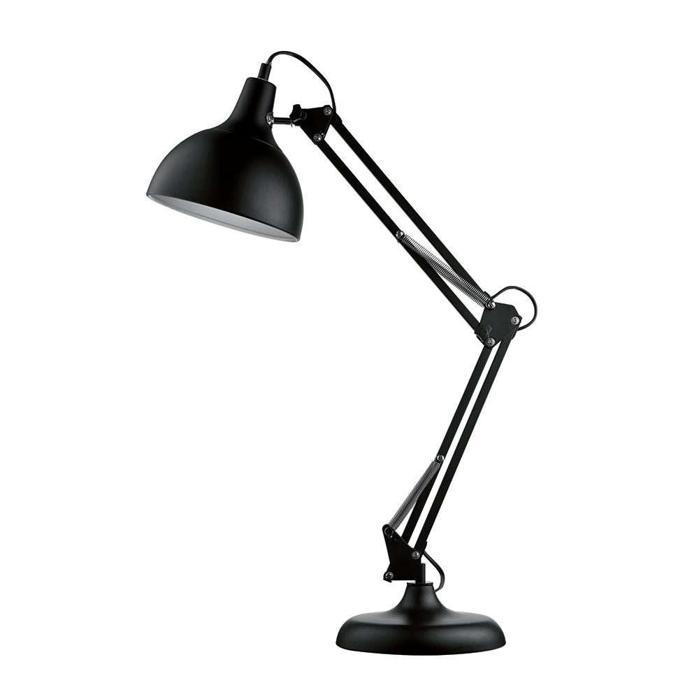Luminária de Mesa Articulada Preta Grande Bivolt em Metal - 72x19 cm