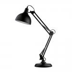 Luminária de Mesa Articulada Preta Grande Bivolt em Metal