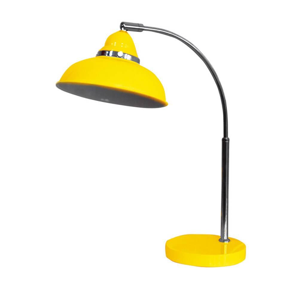 Luminária de Mesa City Light Amarela Brilhante em Metal - Urban - 45x20 cm